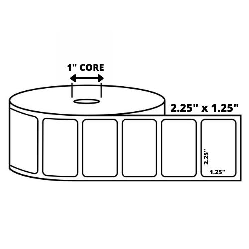 "2.25"" x 1.25"" Desktop Direct Thermal Labels - 1000 Labels Per Roll"