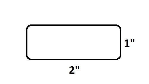 "2"" x 1"" Desktop Direct Thermal Labels - 1375 Labels Per Roll"