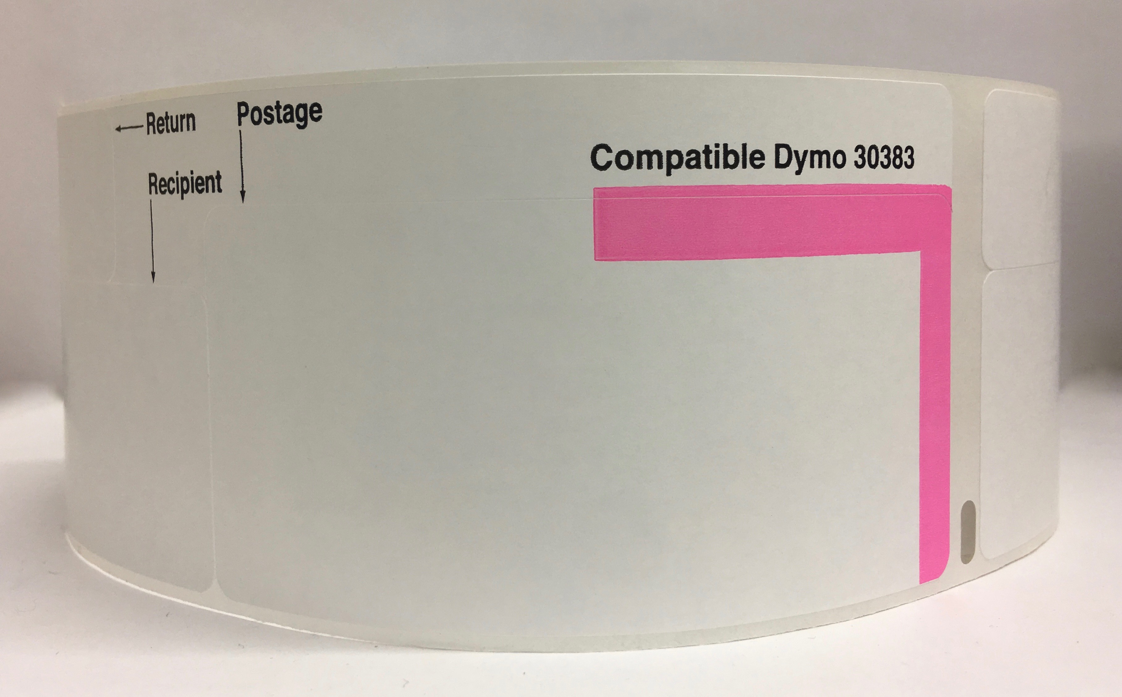 """Dymo Compatible 30383 (3-Part) Shipping Postage Return Address Labels - 2-1/4"""" x 7"""", 150 Labels Per Roll"""