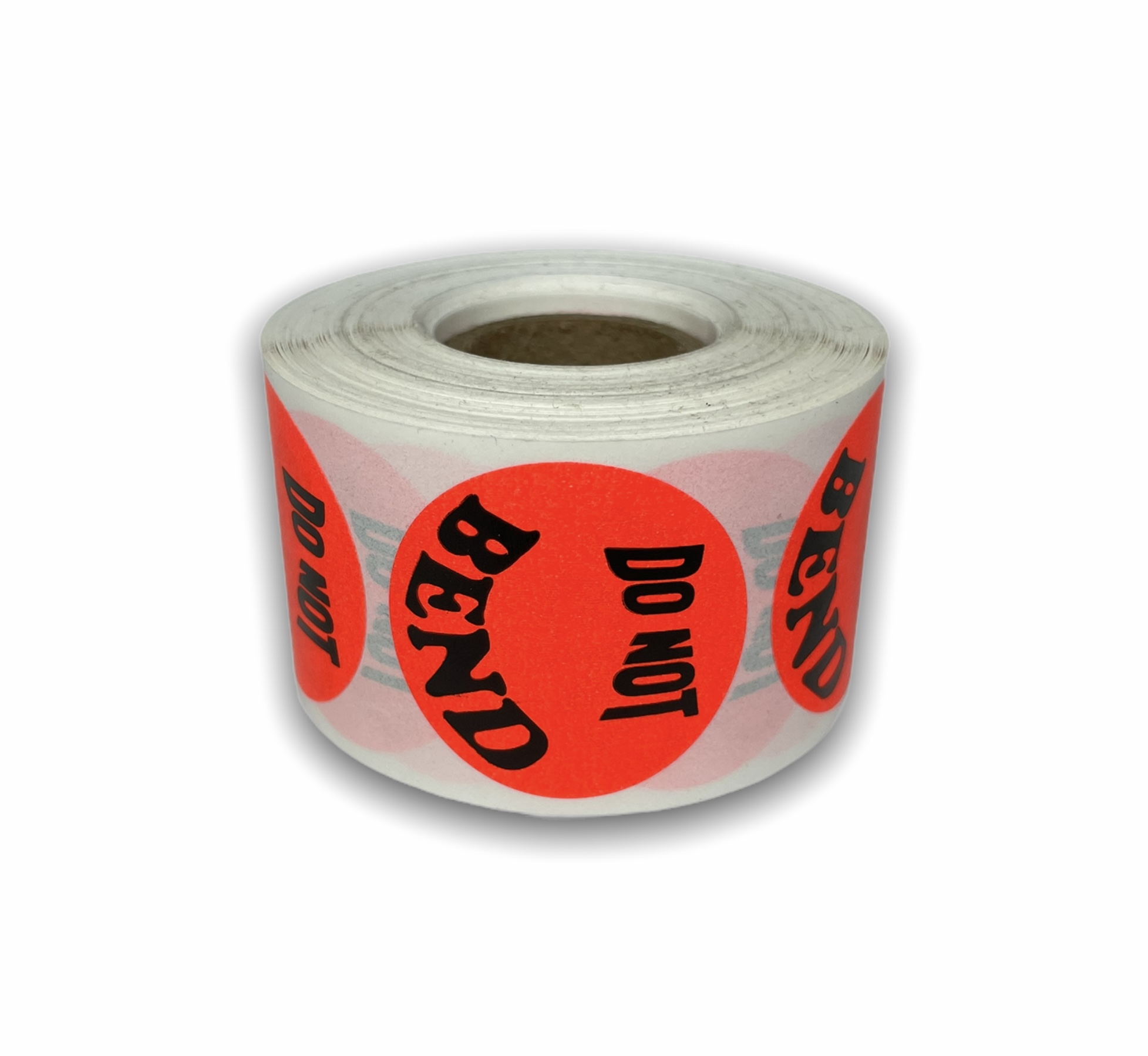"""""""DO NOT BEND"""" - Br/Red 1-1/2"""" Round Labels"""