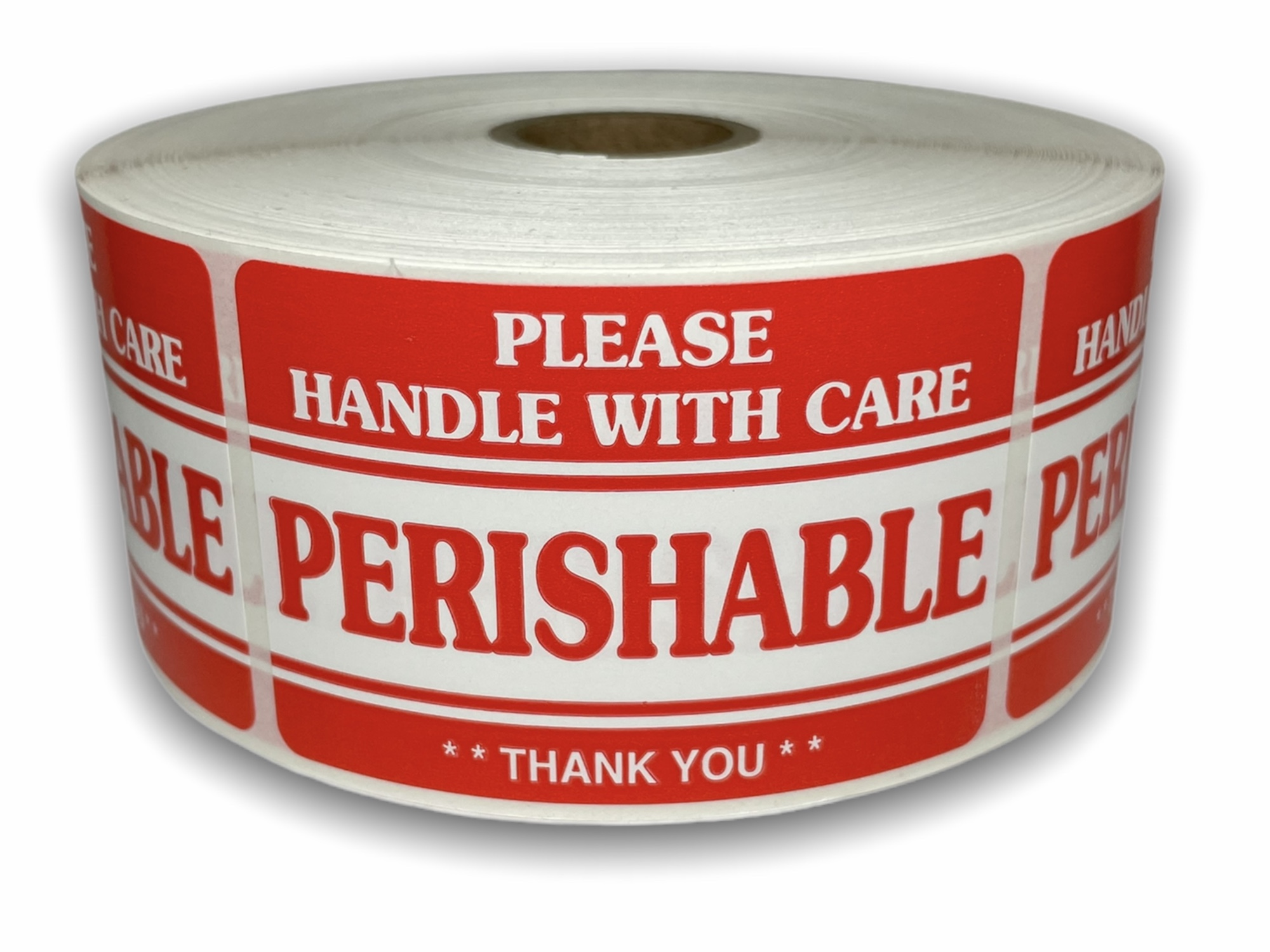 """PERISHABLE Handle with Care Labels - 2"""" x 3"""""""