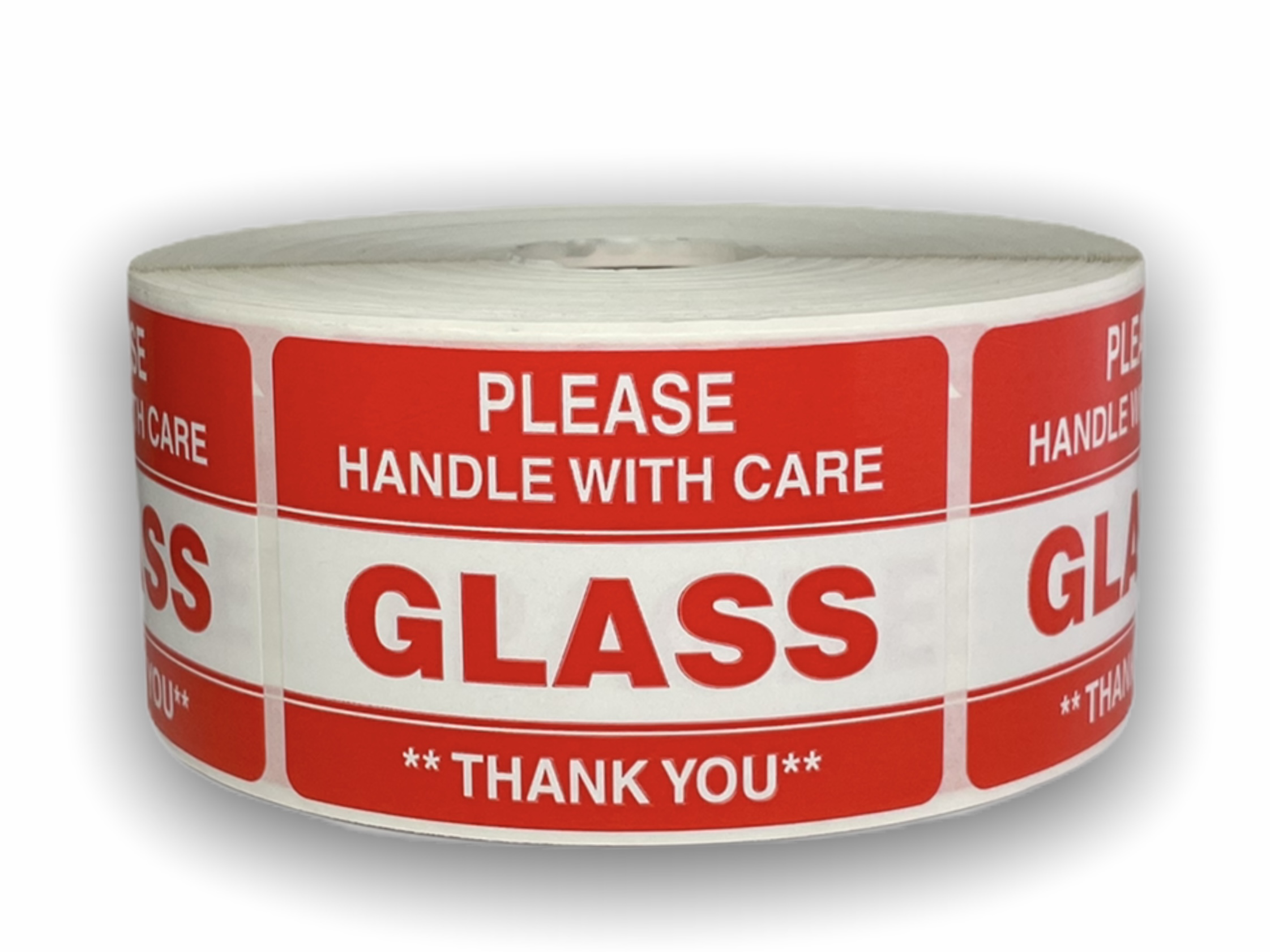 "Please GLASS Handle with Care Labels - 2"" x 3"""