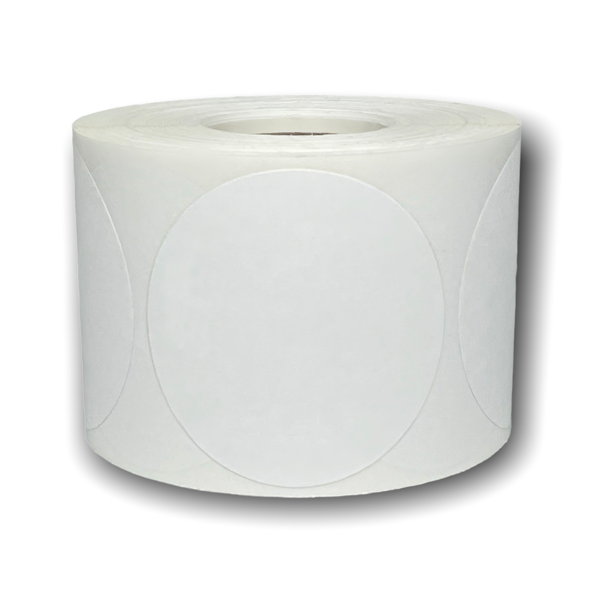 """2.25"""" Round Desktop Direct Thermal Labels - 650 Labels Per Roll"""