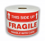 "FRAGILE 'This Side Up' Labels - 3"" x 5"" / 300 Labels Per Roll"