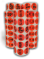 "Br/Red Pricing Stickers - 1-1/2"" Circle with 1000 Labels Per Roll"