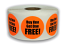 "BUY ONE GET ONE FREE! Stickers - Orange 1-1/2"" Circle 1000 Labels Per Roll"