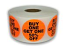 """BUY ONE GET ONE 50% OFF Stickers - Orange 1-1/2"""" Circle 1000 Labels Per Roll"""