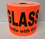 "GLASS Handle with Care - Br/Red 4"" x 6"", 250 Labels Per Roll"