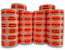 """FOOD / MEAT / PRODUCE / BAKERY Grocery Deli Supermarket Stickers - Br/Red 1-1/2"""" x 1"""" Oval Labels"""