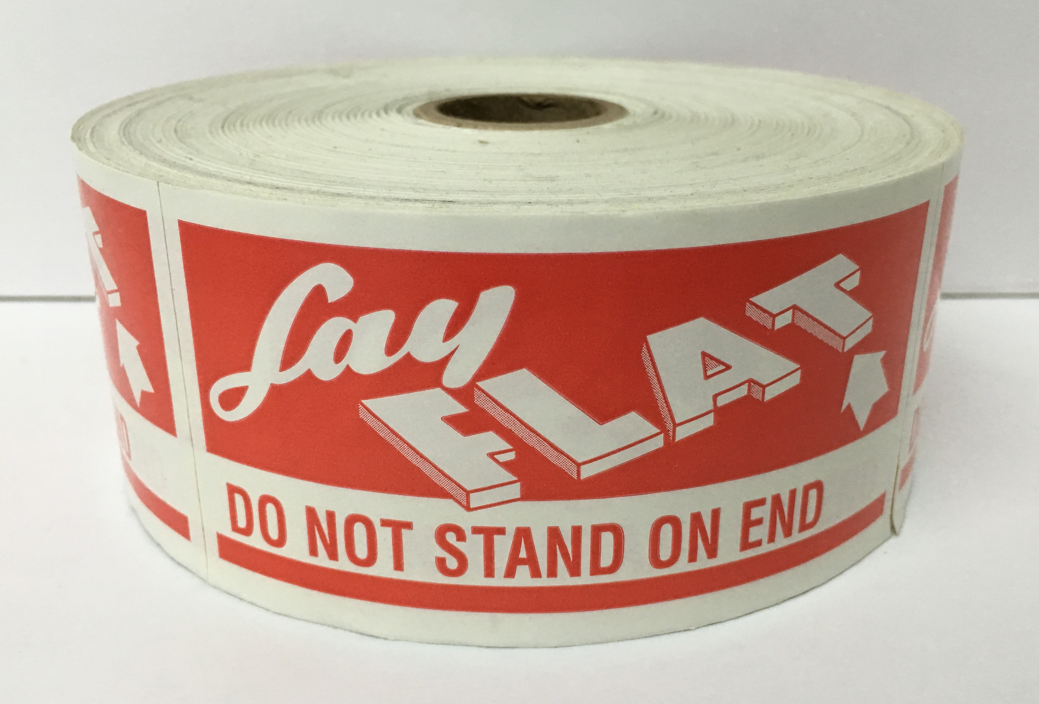 "LAY FLAT / DO NOT STAND ON END Labels - 2"" x 4"", 500/Roll"
