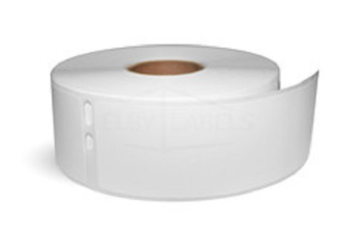 "White Synthetic Dymo Compatible 30252 Address Labels - 1-1/8"" x 3-1/2"", 350 Labels Per Roll"