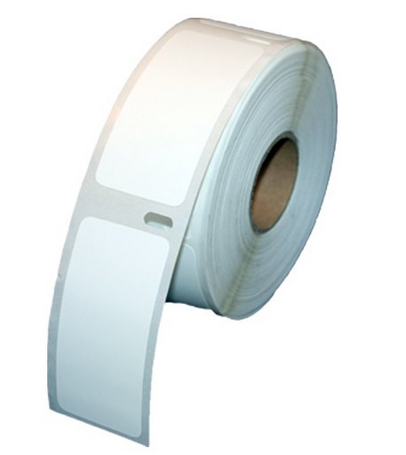 "Removable Adhesive Dymo Compatible 30336 Multi Purpose Labels - 1"" x 2-1/8"", 500 Labels Per Roll"