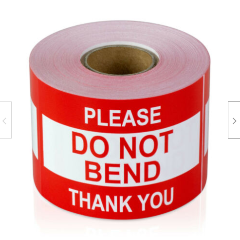 """Please DO NOT BEND Thank You Labels - 2"""" x 3"""""""