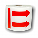 """Double ARROW This Side Up Labels - 3"""" x 4"""" / 500 Labels Per roll"""