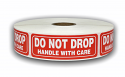 "DO NOT DROP Handle with Care Labels - 1"" x 3"""