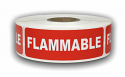 "FLAMMABLE Stickers - 1"" x 3"", 300 Labels Per Roll"