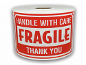 "FRAGILE Handle With Care Labels - 3"" x 5"" / 300 Labels Per Roll"