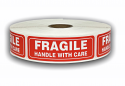 "FRAGILE Handle with Care Labels - 1"" x 3"""