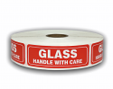 "GLASS Handle with Care Labels - 1"" x 3"""