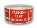 "PACKING LIST ENCLOSED Labels - 2"" x 3"""