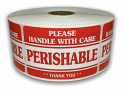 "PERISHABLE Handle with Care Labels - 2"" x 3"""