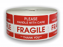 """Please FRAGILE Handle with Care Labels - 2"""" x 3"""""""