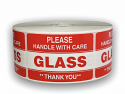 """Please GLASS Handle with Care Labels - 2"""" x 3"""""""