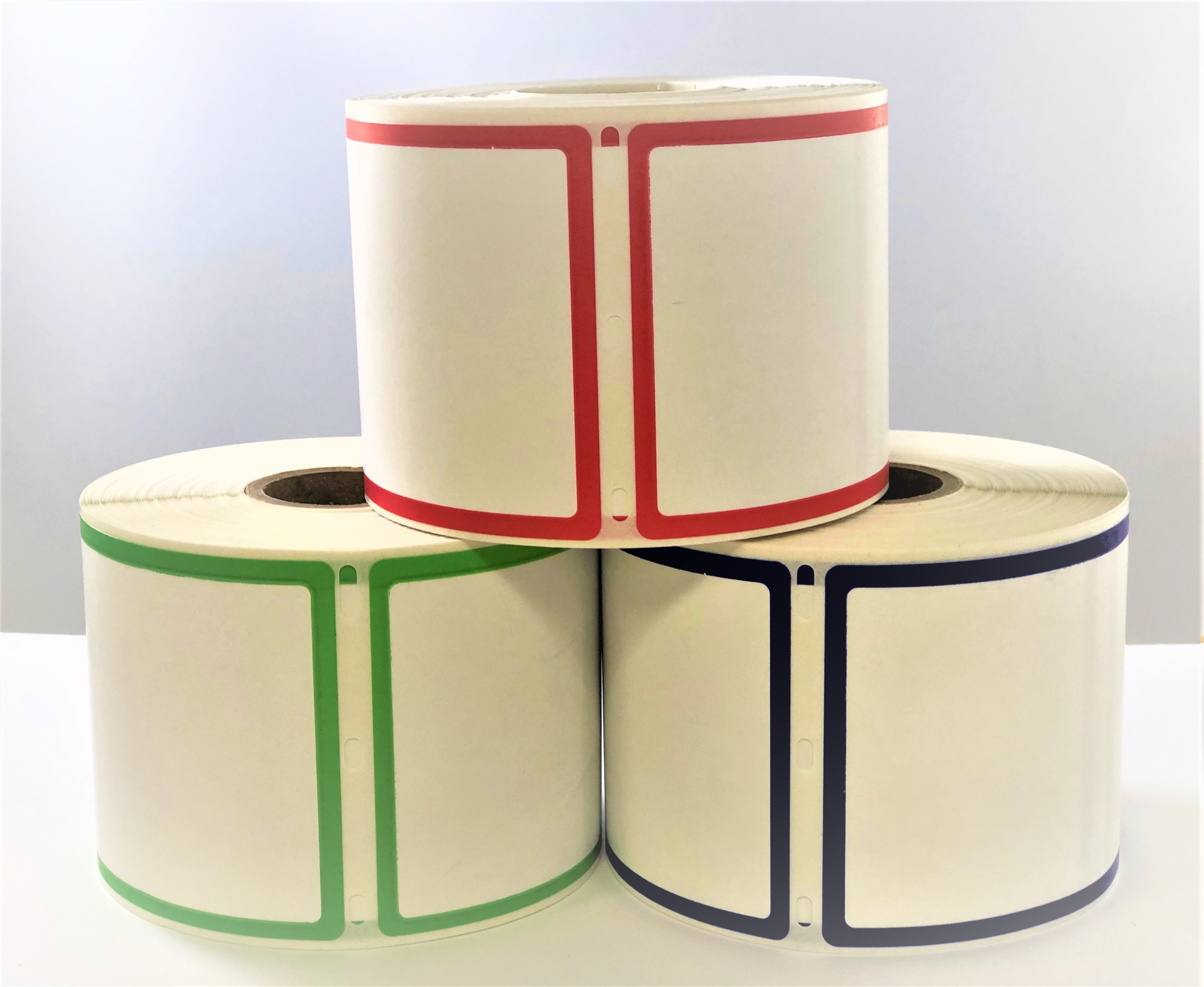 "Dymo Compatible 30344 Border Labels - 2-5/16"" x 4"", 300 Labels Per Roll"